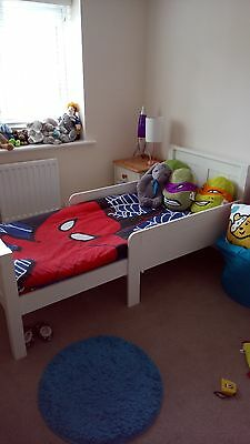 Mamas and Papas White Toddler Bed