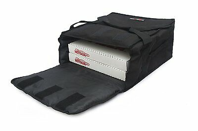 Black Polyester Insulated Pizza / Food Delivery Bag 12″ - 14″- Professional