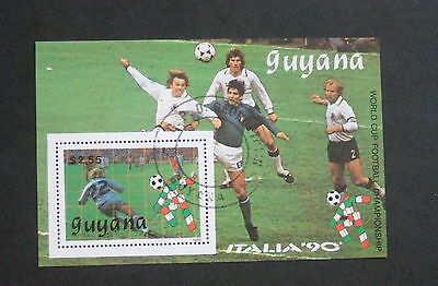 Guyana 1989 World Cup Football Championships MS Miniature sheet fine used