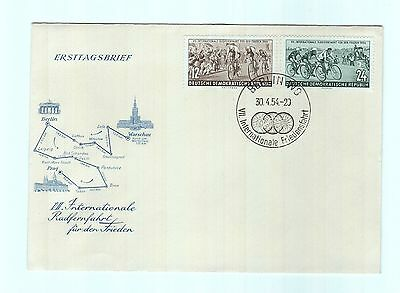 Germany  1954 , 7Th International Cycle Race , Cover  Special Cancel