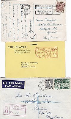 Canada 1900-1987 Group of 12 Covers and Cards Incl One Registered