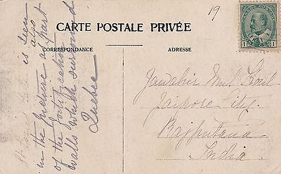 Canada 1911 PC Quebec to Rajputana India 1c Stamp on both sides