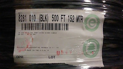Belden 8281 010 Coax 20 Awg Double Braided Rg59 Black Cable - 500' Spool