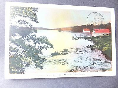 Post Card; Vintage, Moon River , Muskoka, Ontario,Canada , 1938