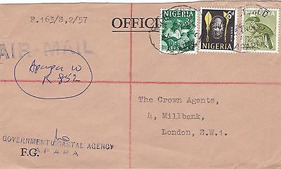 Nigeria 1963 Registered Airmail Cover to London UK 1s9d Rate