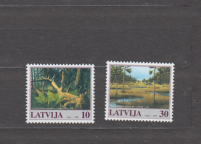 Latvia 1997 Nature Reserves Complete Set Mint Never Hinged