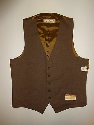 Vintage 70s - 80s LEVI'S Action Suits STA-PREST Suit Brown VEST L NEW w/ tags!!!