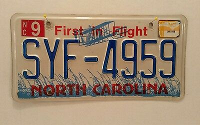 Vintage 2009 2011 South Carolina State First In Flight License Plate Tag SYF4959