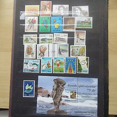 Aland 1995/7 Collection 23 issues + m/s MNH
