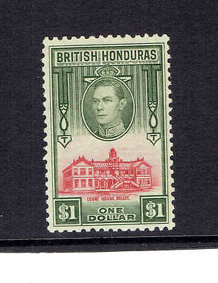 British Honduras KGVI 1938, SG159. $1 Scarlet and Olive.  Mounted Mint.