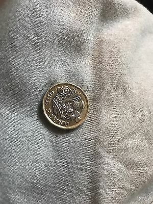 New £1 Pound Coin 2016 Royal Mint Error Rare