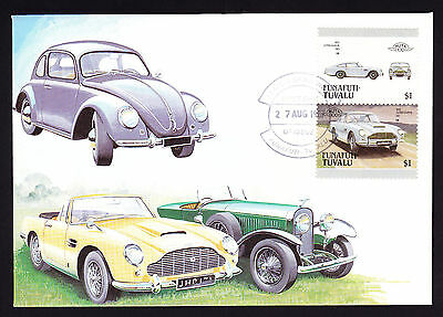 Tuvalu 1987 postmark Aston Martin D85 stamp on Classic Car Automobile Cover FDC