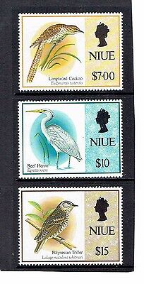 Niue 1993 Part Set of 3, Birds (High Values). SG727-729. UnMounted Mint.