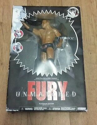 WWE Unmatched Fury The Rock figure BNIB Dwayne Johnson Brahma Bull The Great One
