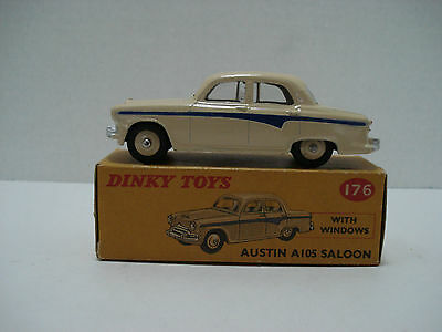 Dinky Austin A-105 Saloon # 176-G Vintage Made In England 1958 With Box