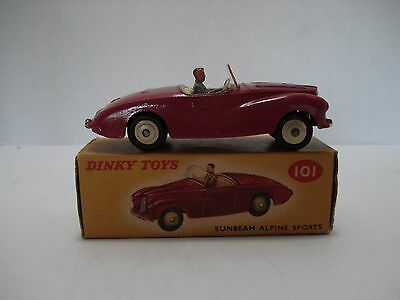 Dinky Sunbeam Alpine  # 101-H Vintage Made In England 1957 With Box