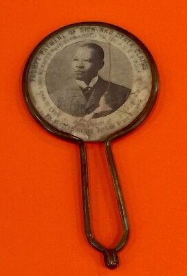 Rare Early Advertising Mirror African American Lodge AUK&D William H Fields