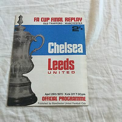 FA Cup Final Replay Chelsea V Leeds United Old Trafford 1970 Programme