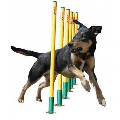 Weave Poles by Clix. Set of 6 agility training weave poles