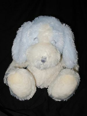 Applause Puppy Dog Baby Blue White Plush Stuffed Animal Shaggy Fur Closed Eyes