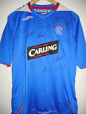 Rangers signed football shirt by a superstar team with COA