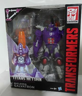 Transformers Titans Return Voyager Nucleon & Galvatron Generations Hasbro MIB