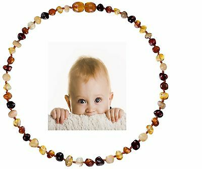 Teething Necklace For Babies Anti-Inflammatory Teething Pain Reduce drooling