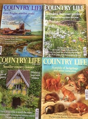 4 Country Life Magazines March April May 2015