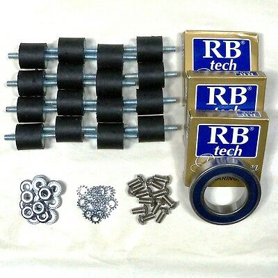 *4 SETS* BASE PLATE BEARING and RUBBER SPRING KIT 50736A, 10666A CLARKE OBS-18