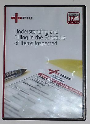 NICEIC DVD...Understanding and Filling in the Schedule of Items Inspected..USED