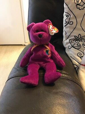 Used Millennium Beanie Bear With Ty Swing Tag