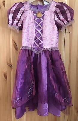 Disney Store Rapunzel Tangled Costume Dress Gown Size Girls SZ Small 5/6