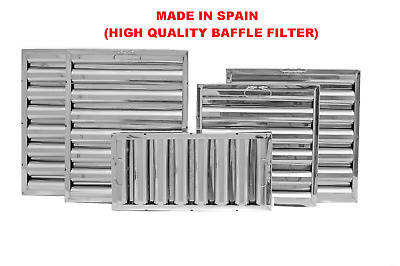 Canopy Baffle Grease Filters S/Steel Commercial Kitchen Extraction (Europe made)