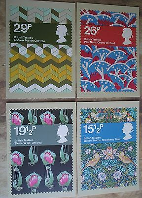 Royal Mail Postcards British Textiles Issued July 1982