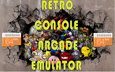 Raspberry Pi 64gb Retro Console Arcade Emulator. 3D Box Art, 100% Metadata.