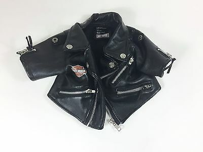 Baby Harley Davidson Jacket Infant Motorcycle Faux Leather 0-6 Months