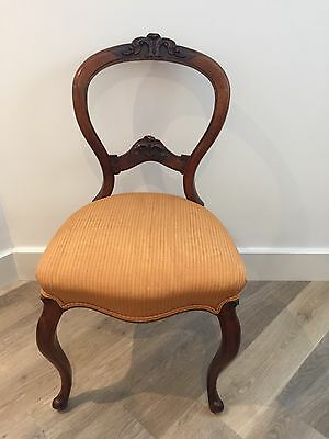 Antique French Balloon Back Dining Chairs