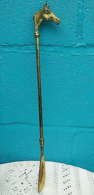 Vintage Brass Shoe Horn Horse Head Handle