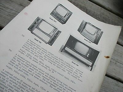 Vintage Baird 700 Series Colour Tv Dual Standard service manual/ book