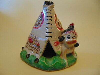 Rare Japanese Hand Painted Novelty Tepee Ashtray In Good Condition