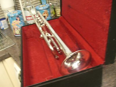 silver  boosey and  hawkes  clippertone   trumpet