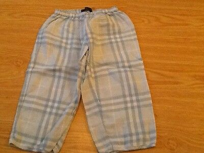 Baby Boys Burberry Trousers size 2 Designer Kids Clothing 100% Authentic