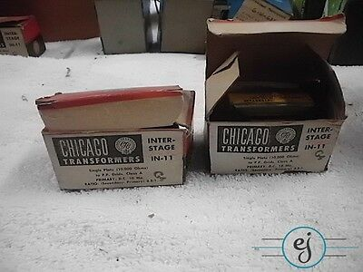 Pair of NiB Chicago IN-11 Interstage Transformers SE to PP