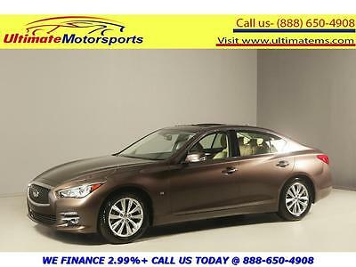 2014 Infiniti Q50 2014 PREMIUM NAV SUNROOF LEATHER HEATSEAT WARRANTY 2014 INFINITI Q50 PREMIUM NAV SUNROOF LEATHER HEATSEAT RCAM BROWN WARRANTY