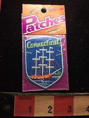 Vtg Voyager Brand In Package Connecticut Maritime Ship Patch 73C4