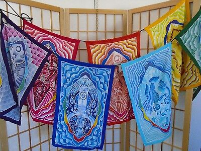 Decorative Prayer Good Karma Flag 'Goddess of the Elements'