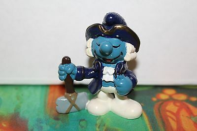 Smurfs Historical President George Washington Smurf Rare Vintage Display Piece