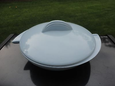 Vintage Boonton Blue Divided Dish