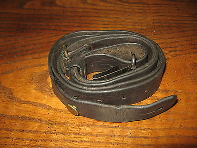 Swedish leather Mauser sling m1896 m96 m38 tre kronor stamped long