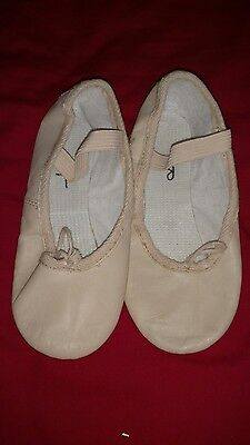 Girls Leather Ballet Shoes Size 11